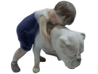 ロイヤルコペンハーゲン  フィギュリン  少年と犬