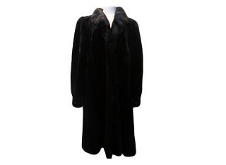 ブラックグラマ ミンクコート