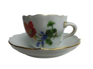 マイセン  フラワー  コーヒーカップ&ソーサー