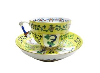 ヘレンド  シノワズリ-西安の黄  カップ&ソーサー
