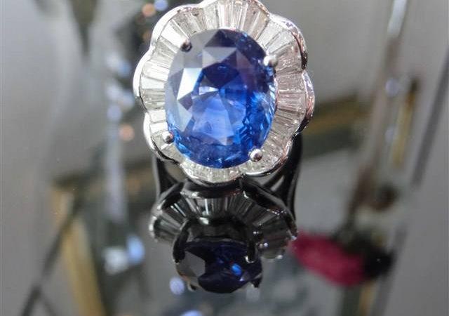 大阪府のお客様からサファイアのダイヤ巻リングをお買取しました!