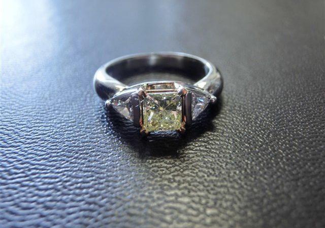 プリンセスカットダイヤモンドリングをお買取りさせて頂きました!