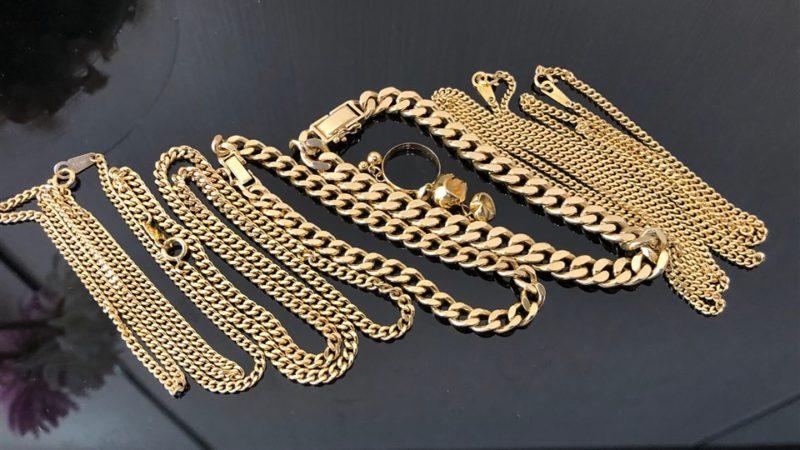 K18金喜平ネックレス、ブレスレットなどの貴金属をお買取りさせて頂きました。