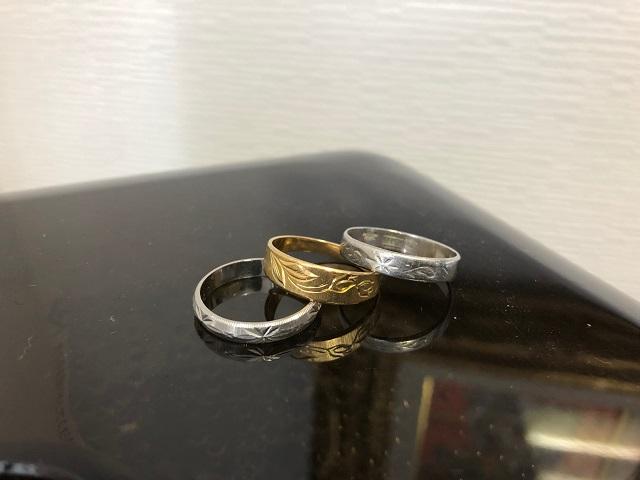 18金指輪プラチナリング