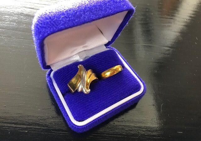 奈良県吉野郡のお客様から純金指輪、K18金プラチナリングをお買取り